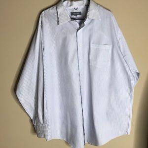 White Blue & Purple XXL Long Sleeve Button Down